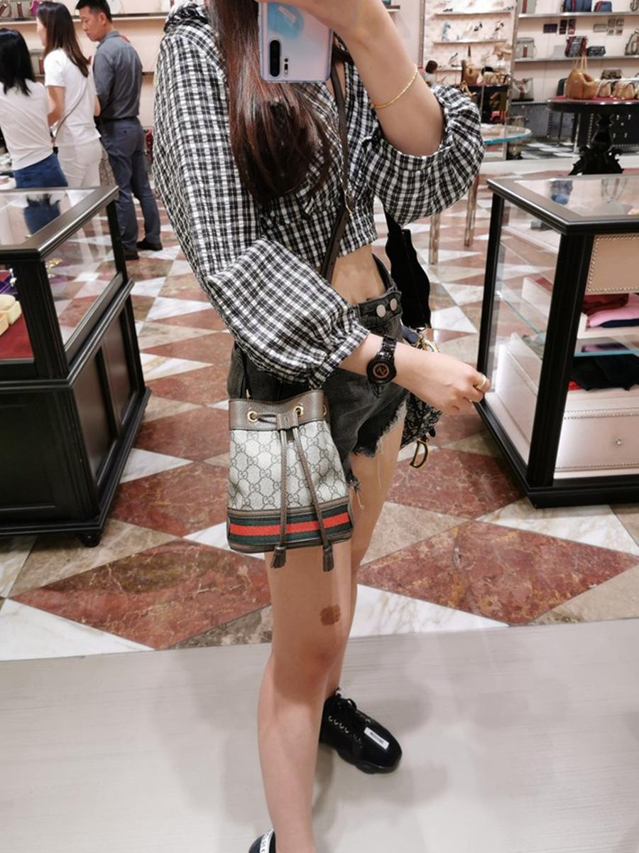 Gucci Ophidia Mini Gg Bucket Bag Qx Glamour